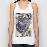 diver Tank Tops featuring Diver by Five Ate Five Studios
