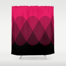 Bright red to Black Ombre Signal Shower Curtain