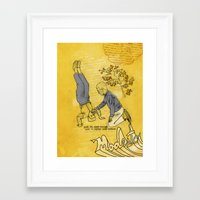 hiccup Framed Art Prints featuring Modesto! Hiccup by MODESTo! Prints