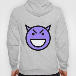 Smiley Face   Laughing Devil Face Blue Hoody