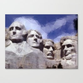 Mount Rushmore in Triangles Canvas Print