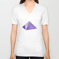 bonjour V-neck T-shirts featuring Bonjour by Hola Vicky