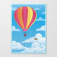 Picnic in a Balloon on a Cloud Canvas Print