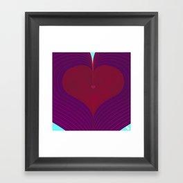 I Heart Lines Framed Art Print