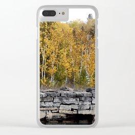 Neebish Rock Cut Clear iPhone Case