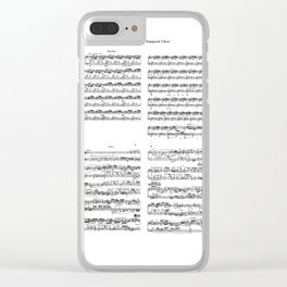 well-tempered clavier Clear iPhone Case
