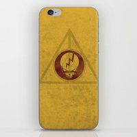 deathly hallows iPhone & iPod Skins featuring Grateful Deathly Hallows by jerbing