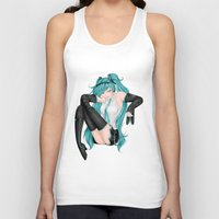 vocaloid Tank Tops featuring Hatsune Miku by Stacy L Gage