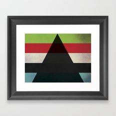 Fernsehen drei Framed Art Print