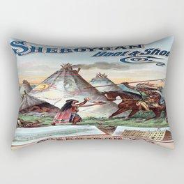 Vintage poster - Sheboygan Boot & Shoe Rectangular Pillow