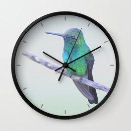 Cuban Emerald Hummingbird Wall Clock
