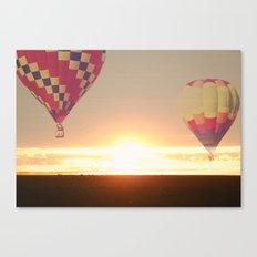 Balloons at Sunset Canvas Print