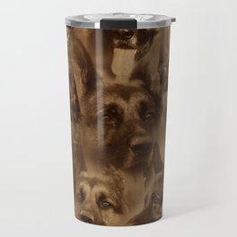 German Shepherd Dog collage Travel Mug