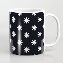 Floral Patter with black background Coffee Mug