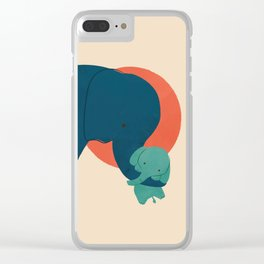Baby Elephant 2 Clear iPhone Case