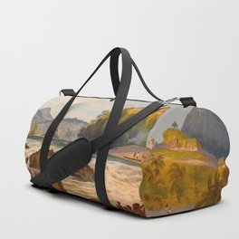 Brazilian Fort St Cabriel Illustrations Of Guyana South America Natural Scenes Hand Drawn Duffle Bag