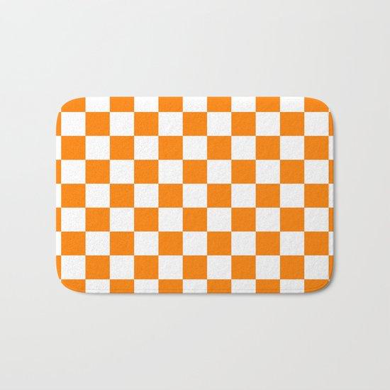 Checker (Orange/White) Bath Mat