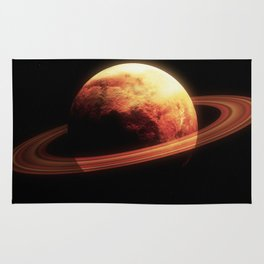 Realistic planet from space Rug