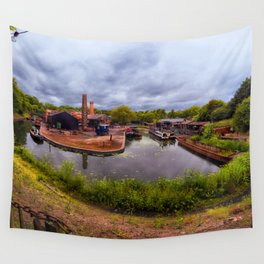 Black Country Living Museum Boat Yard Peaky Blinders Wall Tapestry