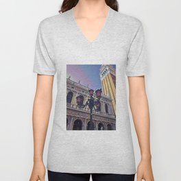 Campanile on the Piazza San Marco Unisex V-Neck