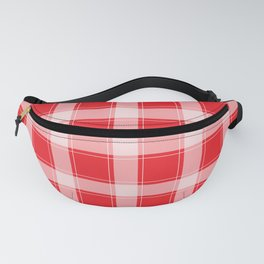 Red and White Plaid Fanny Pack