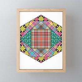 Mandala Quilting Patchwork Quilt Pattern Crafting Gift Framed Mini Art Print