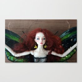Enchanted doll Surrea in Wattle Canvas Print