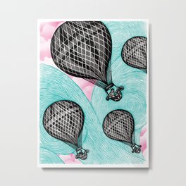 Balloonists Metal Print