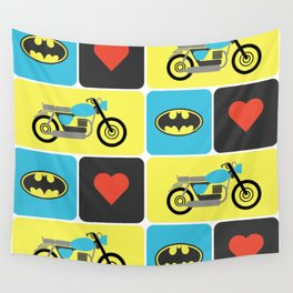 The Bike & The Bat Wall Tapestry