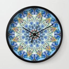 Kaleidoscope No. 3 - Blue Wall Clock