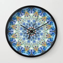 Kaleidoscope No. 3 - Blue Wall Clock
