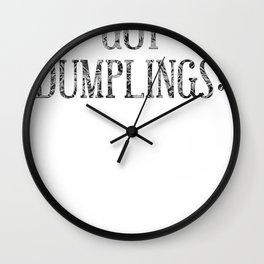 dumplings Wall Clock