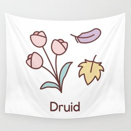 Cute Dungeons and Dragons Druid class Wall Tapestry