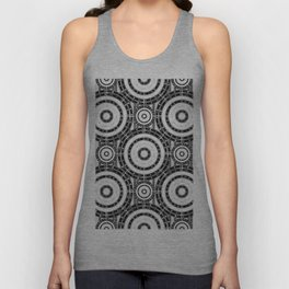 Geometric black and white Unisex Tank Top