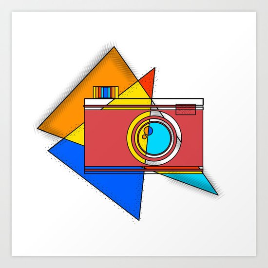 Retro Camera by youngartdesignstudio