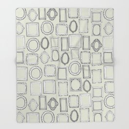 picture frames bone Throw Blanket