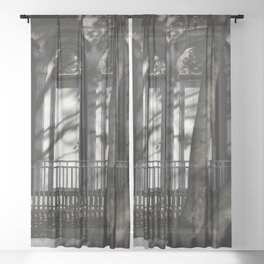 Red Leaf Sheer Curtain