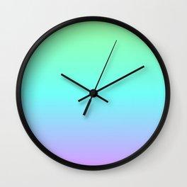 Cool Pastel Gradient Wall Clock
