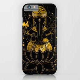 Golden Ganesha iPhone Case