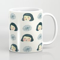 girly Mugs featuring Girly : 소녀감성 by Young Ju