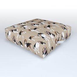 Treeing Walker Coonhounds on Tan Outdoor Floor Cushion