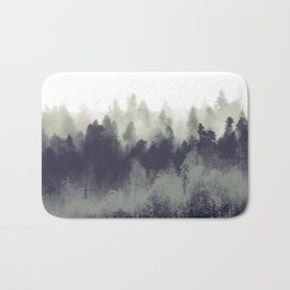 Mountain Forest Abstract Bath Mat