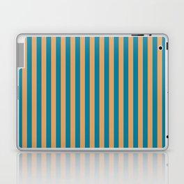 Laguna Blue and Mango Stripes Laptop & iPad Skin