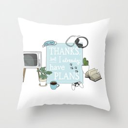 Introverts Paradise Throw Pillow