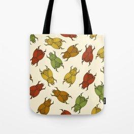 seamless pattern with  scarab beetles Tote Bag