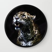 jaguar Wall Clocks featuring  Jaguar  by OnlineGifts