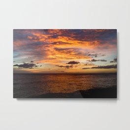 Kaka'ako Waterfront, Honolulu Fire Sunset III Metal Print