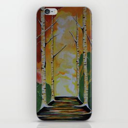 Meet Me By The Birches iPhone Skin