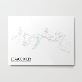 Espace Killy, Savoie, FRA - North American Edition - Minimalist Trail Art Metal Print