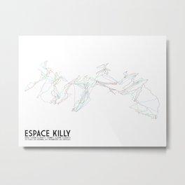 Espace Killy, Savoie, FRA - North American Edition - Minimalist Trail Art Metal Print